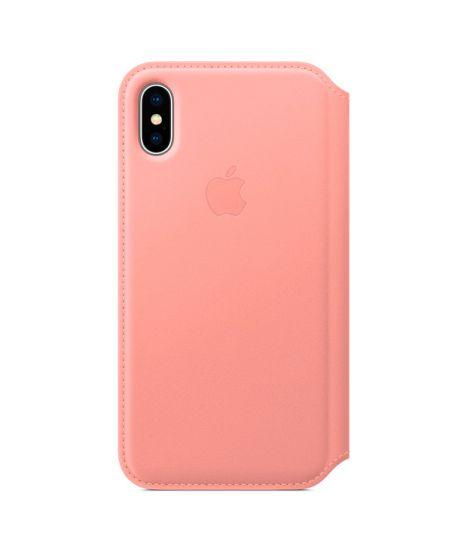 Чехол для iPhone Apple iPhone X Leather Folio Soft Pink
